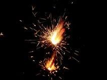 Sparklers na czarnym tle zdjęcie royalty free