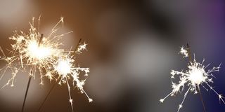 Sparklers - New Year / New Year`s Eve / celebration Stock Photos