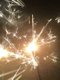 Sparklers. At night Stock Photography