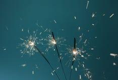Sparklers oparzenie Fotografia Stock