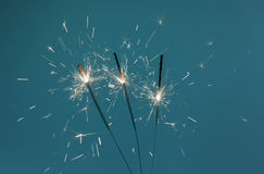 Sparklers oparzenie Zdjęcia Royalty Free