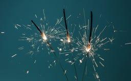 Sparklers oparzenie Zdjęcie Stock