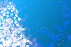Sparkles, звезды и снежинки Стоковое Изображение