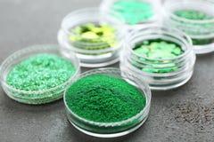 Sparkles и sequins зеленого цвета Стоковая Фотография RF