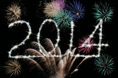 2014 sparkles Imagens de Stock