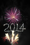 2014 sparkles Стоковые Фотографии RF
