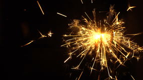 Sparkles of bengal fires at christmas stock footage