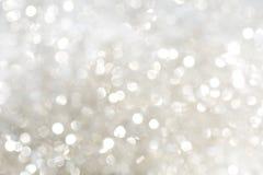 Sparkles do branco e da prata Imagens de Stock