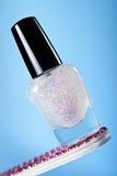 Sparkles do polonês de prego Fotografia de Stock