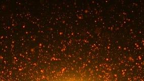 Sparkles do sumário ou luzes douradas do brilho Fundo festivo abstrato do ouro Imagens de Stock Royalty Free