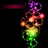 sparkles för regnbåge för abstrakt begreppfärglampor stock illustrationer