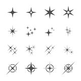 Sparkles icon set 6, vector eps10 Stock Photo