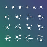 Sparkles icons. EPS 10  illustration Royalty Free Stock Photography