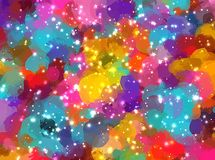 Sparkles multicolor brush strokes background. Vector version Royalty Free Stock Photo