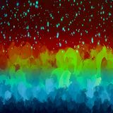 Sparkles multicolor brush strokes background. Vector version Stock Photos