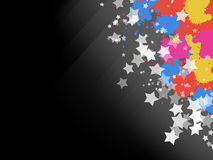 Sparkles Stars and Color Splashes Background Stock Images