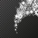 Sparkles white symbols on the dark background - star glitter, transparency stellar flare. Shining reflections. Stock Photos