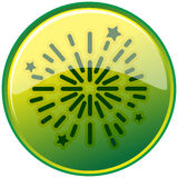 Sparkling. Illustration of sparkling in green circle Stock Images
