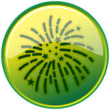 Sparkling. Illustration of sparkling in green circle Royalty Free Stock Photography