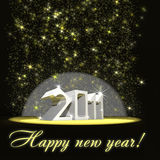 Sparkling 2011 Stock Photography