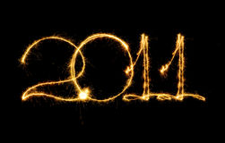 Sparkling 2011 Stock Image