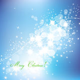 Sparkling abstract Christmas background. Stars and lights, festive Christmas background Royalty Free Stock Image