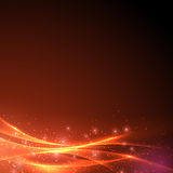 Sparkling abstract swoosh wave light background. Vector illustration Stock Photography