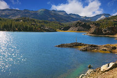 Sparkling azure lake Stock Photo