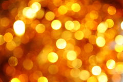 Sparkling Background. Defocus of golden lights.usefull as background Royalty Free Stock Photo