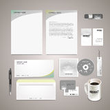Sparkling background corporate identity set. Abstract sparkling background corporate identity set in silver tone Royalty Free Stock Photos