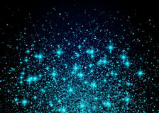 Sparkling background luminous blue Stars Explosion Royalty Free Stock Photos