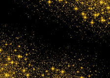 Sparkling background luminous gold Stars Star dust sparks Stock Photos