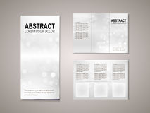 Sparkling background tri fold brochure template Royalty Free Stock Photo