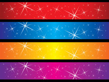 Sparkling banners Royalty Free Stock Images