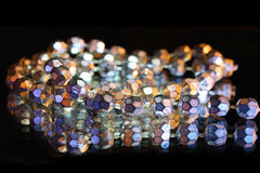 Sparkling beads Royalty Free Stock Images