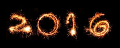 Sparkling 2016. On black background Royalty Free Stock Image