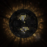 Black disco ball background Stock Image