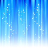 Sparkling blue abstract background. Soft blue abstract background with magic glitter stars Royalty Free Stock Photos