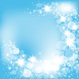 Sparkling blue background Stock Photo