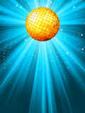 Sparkling blue disco ball. EPS 8 Stock Photo