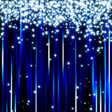 Sparkling blue light stars background Royalty Free Stock Photography