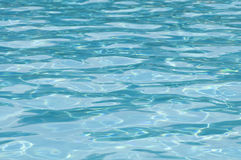Sparkling blue pool surface Royalty Free Stock Photos