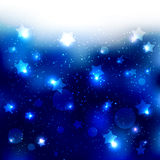 Sparkling Blue Star Celebration Background Stock Photos