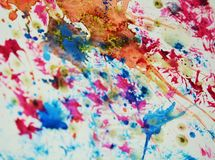 Blue violet white gray pink orange golden spots. Colorful shapes and forms Stock Image