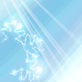 Sparkling bright background with a stylized snowflake Royalty Free Stock Photos