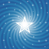 Sparkling Bright Star Background. Vector Royalty Free Stock Photo
