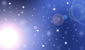 Sparkling bright stars night sky Stock Photography
