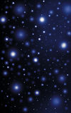 Sparkling bright stars night sky Stock Photography