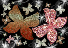 Sparkling butterflies Stock Image