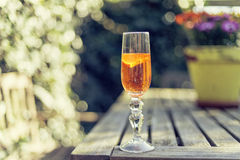 Sparkling champagne cocktail in a flute Stock Photos
